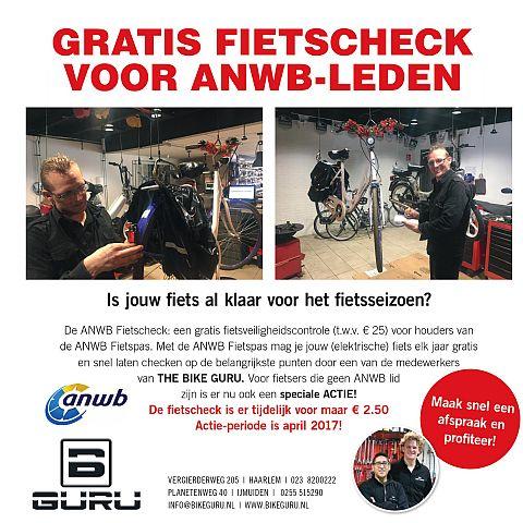 GRATIS fiets-check voor ANWB-leden in Haarlem-Noord